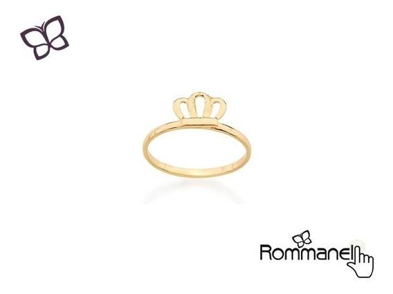 Anel Infantil Coroa Folheado Ouro Rommanel 511816