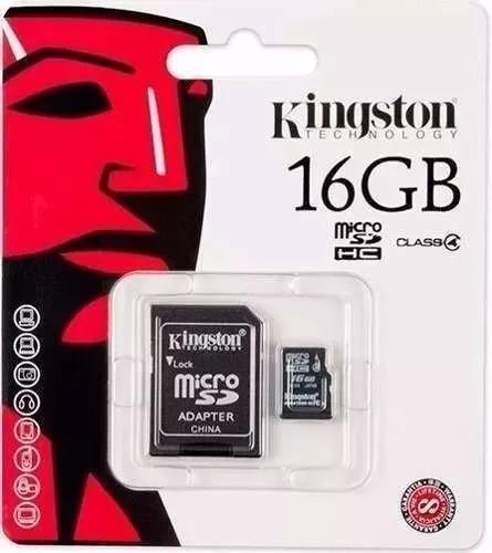 Cartão De Memória Micro Sd Kingston 16gb Original + Adaptado