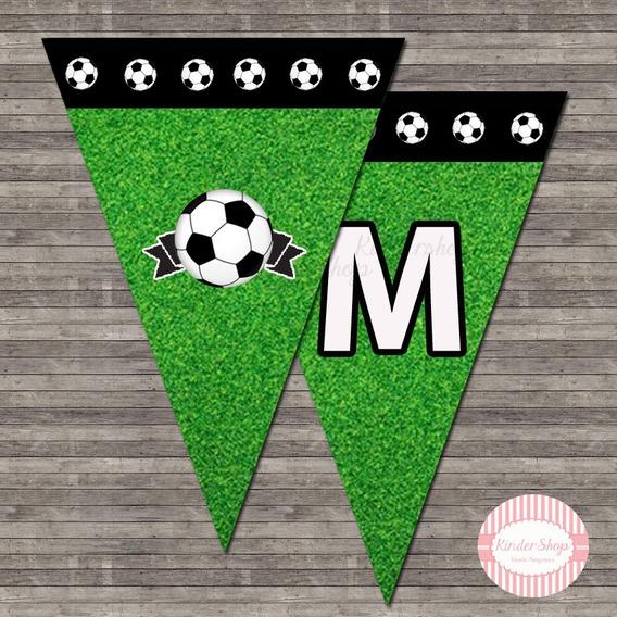 Futbol Banderin Imprimible Personalizado