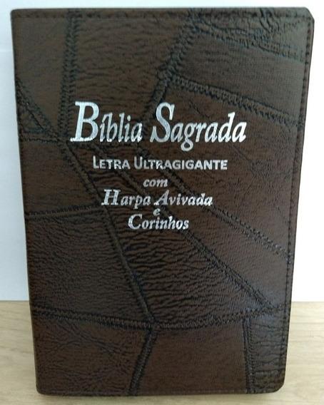 Bíblia Ultragigante Com Harpa Cor Café Costura - Cpp - Alpha
