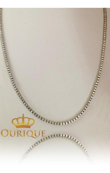 Corrente Masculina Ouro 18k Riviera 15 Quilates De Diamantes