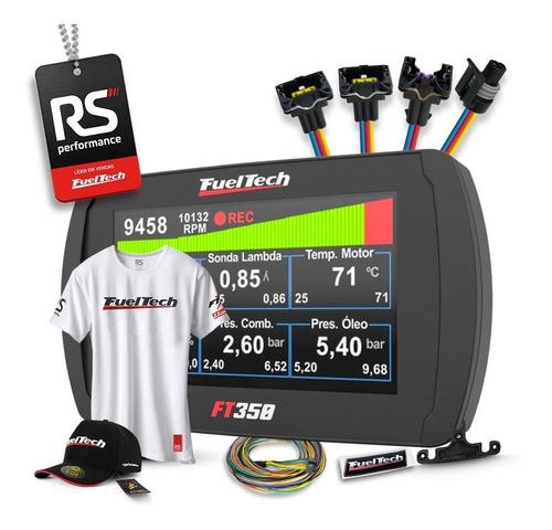 Fueltech Ft350 3 Metros + Brindes + Kit Chicote Gm 4 Bicos