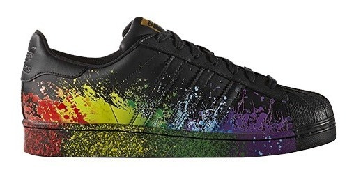 Tênis adidas Superstar Pride Pack Lgbt Preto - 38