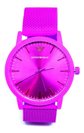 Relógio Feminino Pink Rosa Analógico Aço Promoção + Caixa