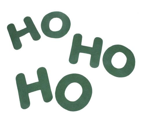 Enfeite De Natal Em Feltro Natalino Decorativo - Ho Ho Ho