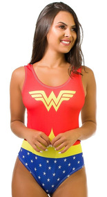 Body Kaisan Sublimado Cavado Nas Costas Wonder Woman