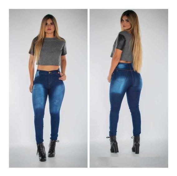 Calça Jeans Feminina Cintura Alta Hot Pants 2% Lycra Oferta