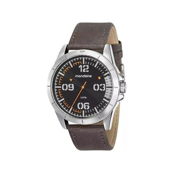 Relógio Mondaine Masculino Prata/marrom 76702g0mvnh3