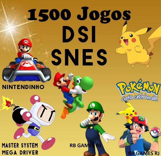 Cartucho 1500 Jogos De Nintendo Ds, Snes P/ 2ds,3ds New 3ds