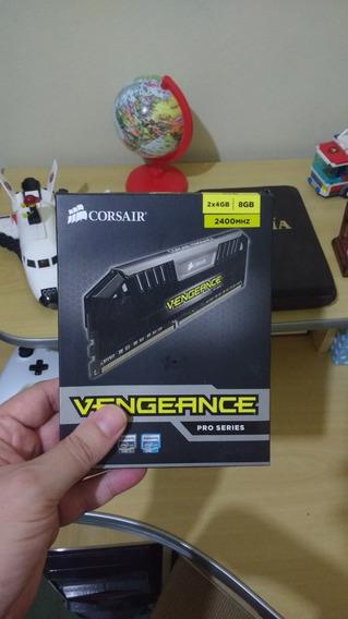 Memória Corsair Vengeance Pro 8gb 2 X 4gb Ddr3 2400mhz C11 Kit 1.65v Cmy8gx3m2a2400c11