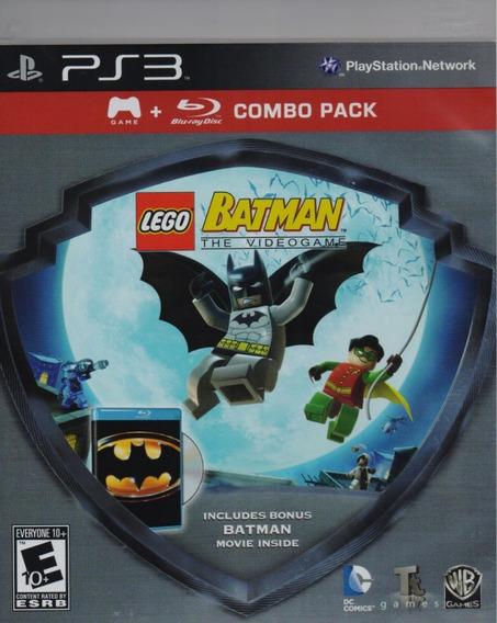 Lego Batman The Video Game Ps3 + Batman 1989 Blu-ray