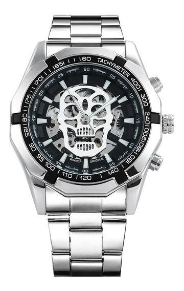 Reloj Winner Hombre Automático Modelo Skeleton Calavera Skul