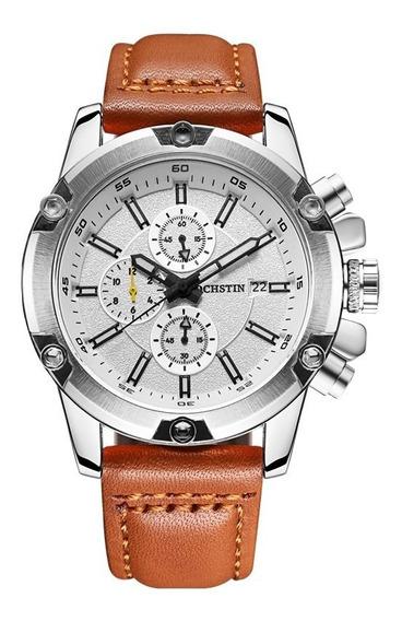 Relógio De Pulso Masculino Ochstin Casual Cronógrafo Branco
