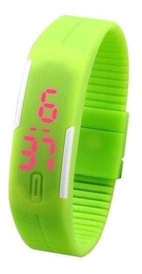 Relógio Led Watch Pulseira De Silicone Unissex