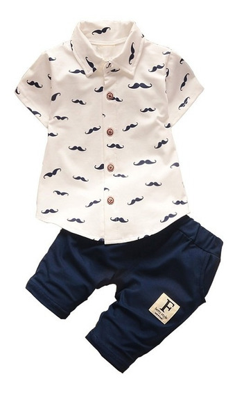 Conjunto Masculino Infantil Bebê Camisa + Short 2 Pçs Np37