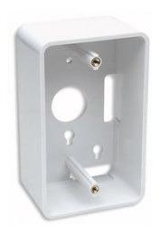 Caja De Pared Para Cable De Red Rj45 Utp Chalupa Blanco 4.80