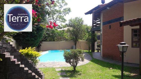 Casa Residencial À Venda , Fazendinha, Granja Viana. - Ca0524