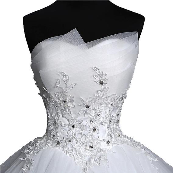 Vestidos De Novia Elegante Hermoso Perlas Barato Princesa