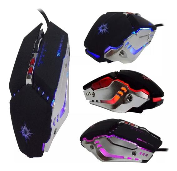 Mouse Gamer Kit Com 2 Unidades 3200 Dpi Óptico Usb