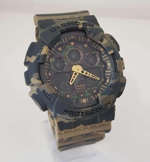 Relógio Casio G-shock Camuflado Ga100 Original