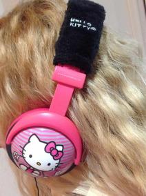 Headphone Hello Kitty Stereo Rosa Muito Fofo