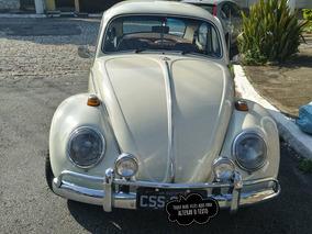 Vw Fusca 68 Placa Preta Motor 1500