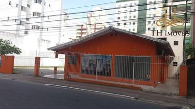 Locação Comercial De Casa Com 120m² De Área Construída, No Centro De Balneário Camboriú - Sc !! - Ca0062