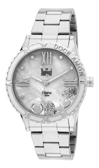 Relógio Dumont Feminino Kit Troca Catraca Prata Sg25195/3b