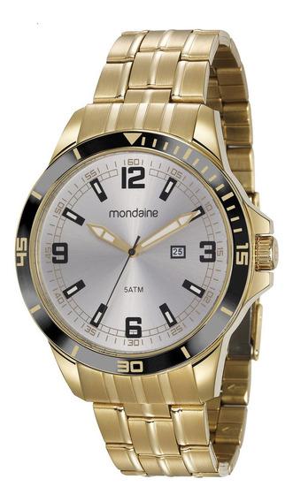 Relógio Mondaine Mascuino Dourado 78763gpmvda2 Nfe/original