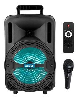 Parlante Portatil Bluetooth Karaoke Recargable Potenciado Fm