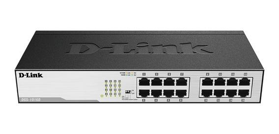 Switch 16 Puertos Gigabit Rack D-link Dgs-1016d