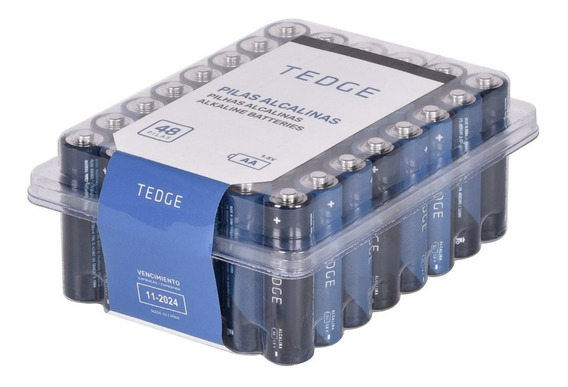 Pilhas Alcalinas Aa Pacote C/ 48 Unidades - Tedge