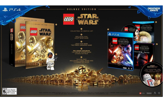 Lego Star Wars The Force Awakens Deluxe Ed - Ps4 - Novo