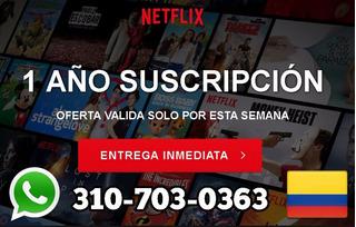 Exclusivo X Hoy 1 Año De Netflix Premium 4k Uhd 5 Perfiles