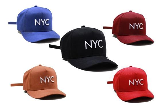 Bone Aba Curva New York City Preto Yankees Promoção !