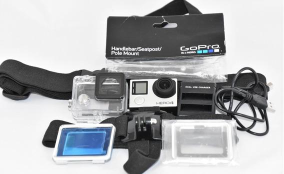 Câmera Go Pro Hero 4 Silver 4k 12 Mp Zerada