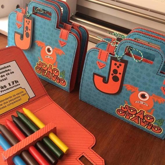 Arquivo Corte Maleta De Colorir Desenho - Envio Rápido