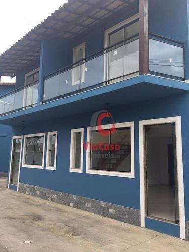 Casa Com 2 Dormitórios À Venda, 80 M² Por R$ 240.000,00 - Extensão Do Bosque - Rio Das Ostras/rj - Ca0353