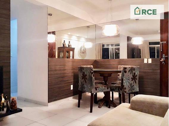 Apartamento Com 3 Dormitórios Para Alugar, 90 M² Por R$ 1.490/mês - Candelária - Natal/rn - Ap0161