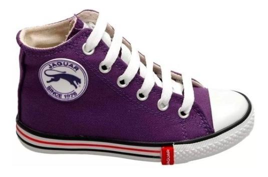 Zapatilla Botita Para Niñas Marca Jaguar En Violeta