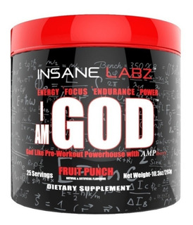 I Am God Insane Labz 25 Servicios Pre Entreno