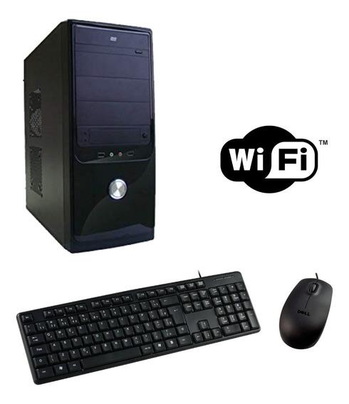 Cpu Core 2 Duo 4gb 1tb Wifi Teclado Mouse + Placa Off 1gb