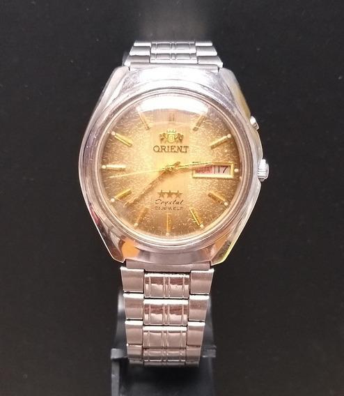 Relógio Masculino Orient 3 Estrelas Crystalke 469ly5-80 Ca