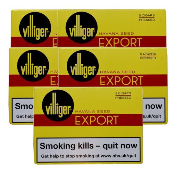 Habanos Pack X25 Villiger Habano Export Cigarros Cigarro