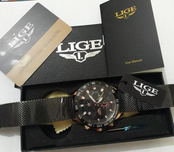 Relógio Masculino Lige 9929 Original