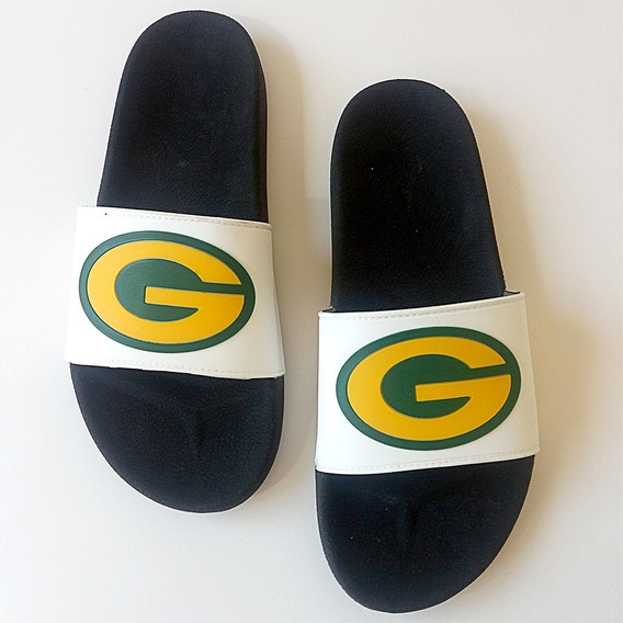 Chinelo Slide Green Bay Packers Nfl Original Branco