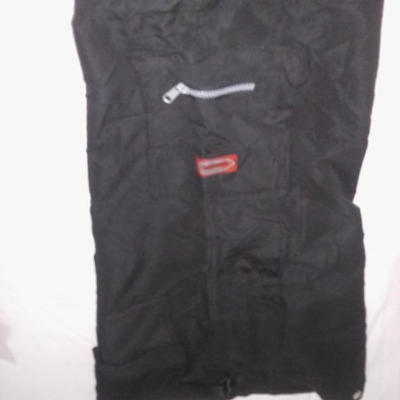 Pantalón De Microfibra Con Bolsillo