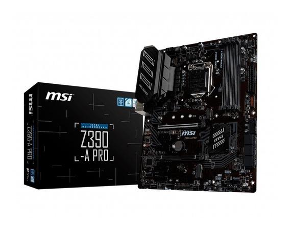 Motherboard Msi Z390-a Pro Intel 1151 Z390 M.2 9th Gen 3