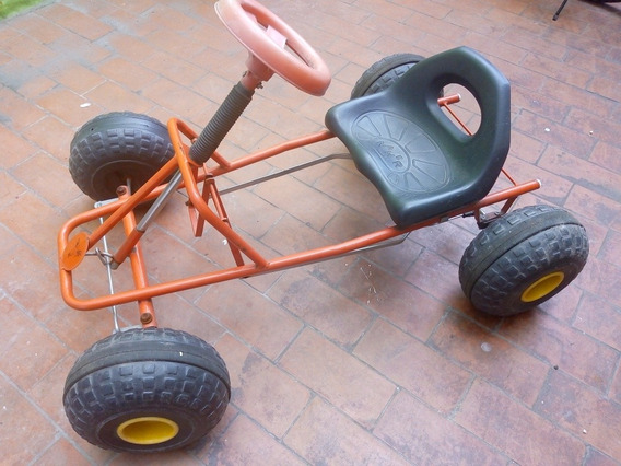 Karting Para Niños A Pedal, De Caño. Ruedas Plásticas