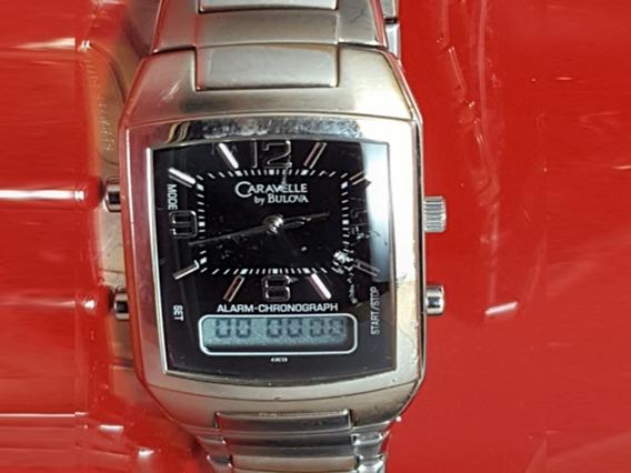 Relógio Caravelle Bulova 43c13 Cronometro Digital.